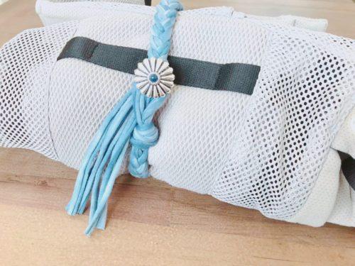 Tシャツヤーンで簡単にできる!三つ編みの抱っこ紐バンドの作り方♪