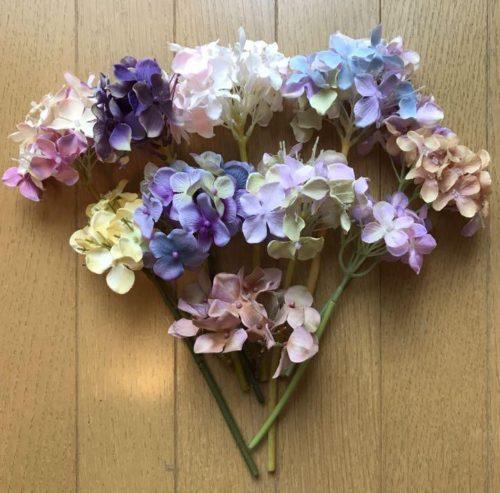 100均の紫陽花造花を使った簡単かわいいピアスの作り方 3選