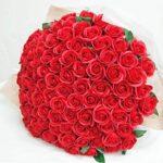 ソープフラワー花束 レッド 60本