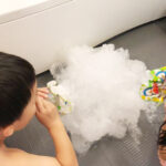 お風呂でおままごとも♡ペットボトルで泡ぶくぶくなおもちゃの作り方